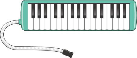 Image illustration of keyboard harmonica
