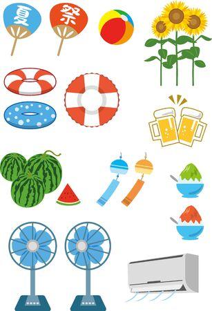 Summer Illustration Material Set