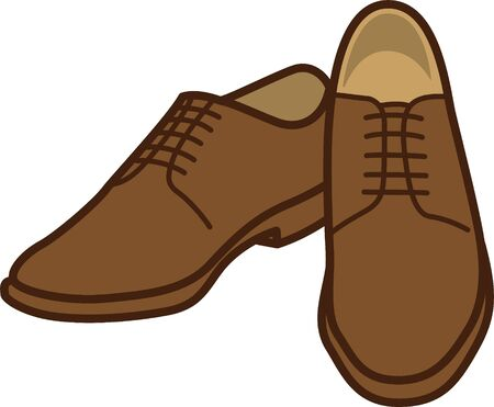 Image illustration of mens leather shoes