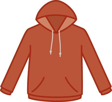 Clothing. hoodie Image Illustration (Red)