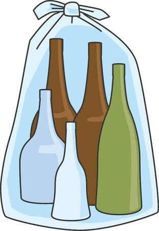 Recycle. Image illustration of an empty bottle