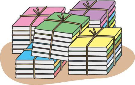 Resource waste. Image illustrationof magazine (pile)