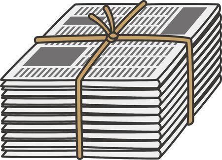 Resource waste. Image illustration of newspaper