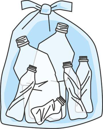 Garbage. Image illustration of PET bottles