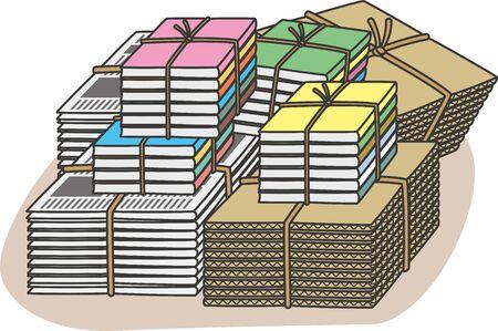 Resource garbage. Image illustration of piles of paper