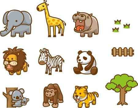 9 animals of zoo animals