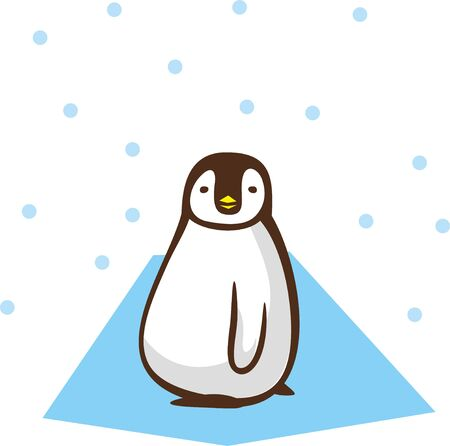 Image illustration of penguin (landscape)