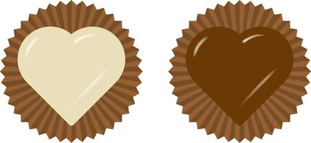 Valentine. Image illustration of chocolate  イラスト・ベクター素材