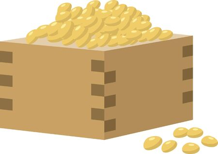 Setsubun. Image illustration of beans