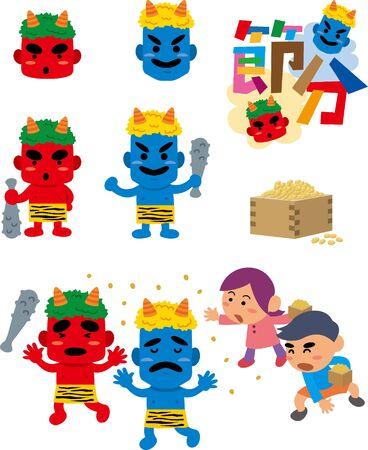 Setsubun image illustration set