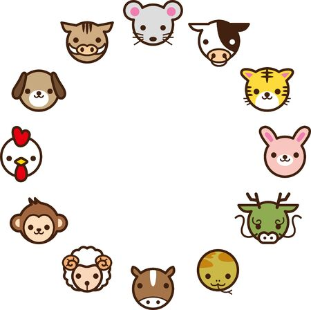 Icon of the zodiac. Image illustration Ilustração