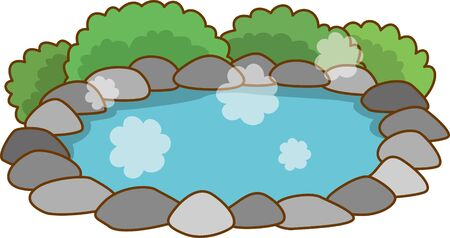 Image illustration of hot spring (open-air bath)