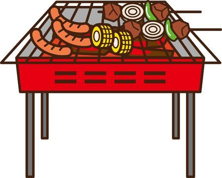 Image illustration baked at barbecue