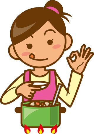 Housewife. Upper body. Image illustrations to taste