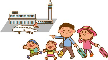 Image of the Family Going on a Trip (Airport)