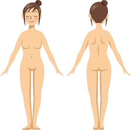 Beauty. Naked image illustration of a woman