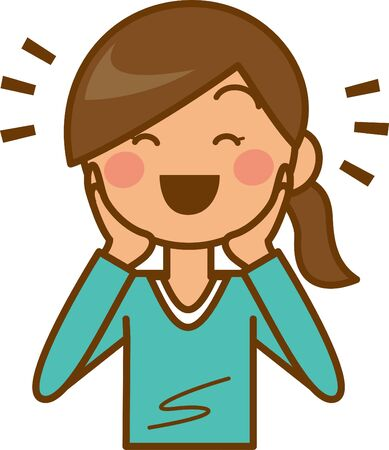 Image illustration of a woman who is happy