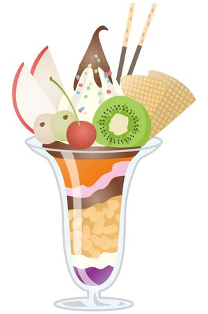 Image illustration of parfait