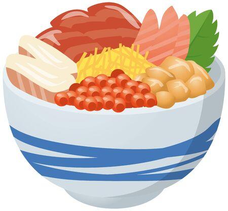 Image illustration of seafood bowl Stock fotó - 138455243