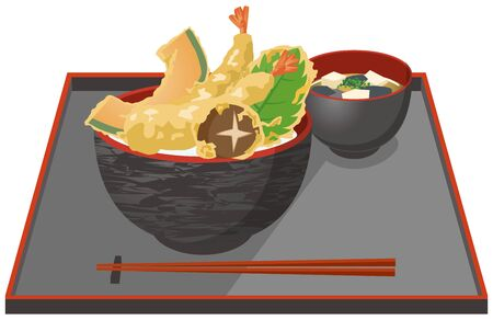 Image illustration of tengu and miso soup