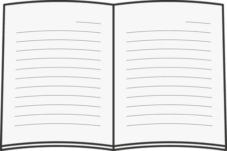 Image illustration of an open note