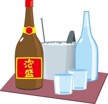 Image illustration of Awamori bottle set
