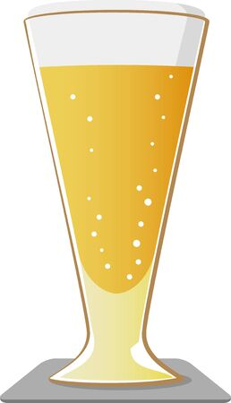 Image illustration of a glass with beer poured in
