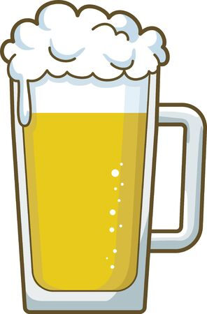 Image illustration of beer pouring into the mug