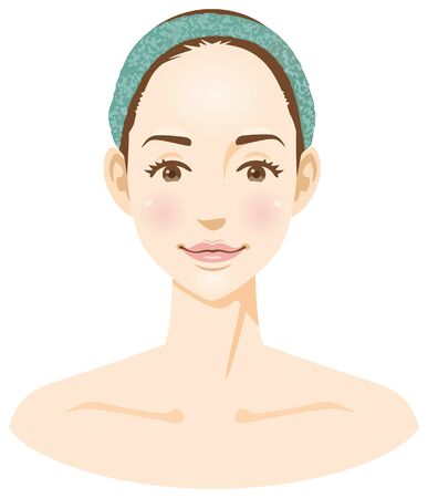 Image illustration of a womans face (beauty)