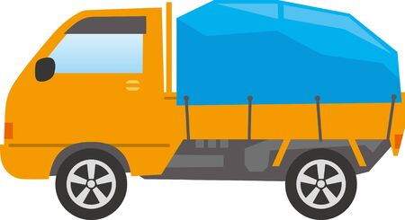 Image illustration of carrying luggage in a truck