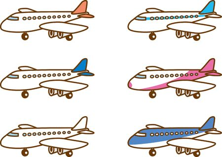 Image illustration of the airplane. Color variations