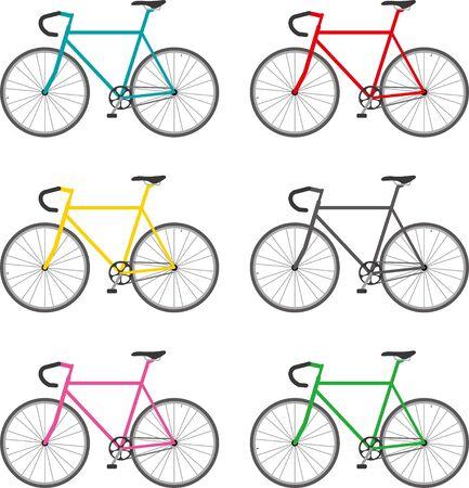 Road bike. Color variations