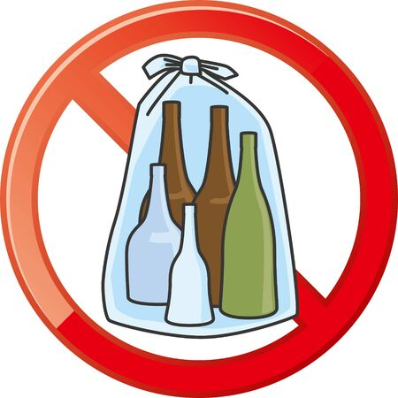 No mark on empty bottles (illegal dumping)
