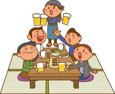 Image illustration of izakaya  イラスト・ベクター素材