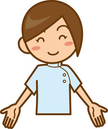 Smiling nurse. Image illustration