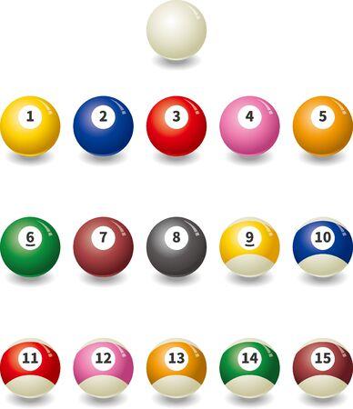 Image illustration set of billiard ball