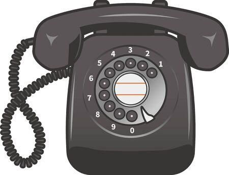 Image illustration of a black phone