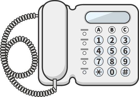 Image illustration of a business phone Ilustração