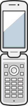 Image illustration of folding mobile phone