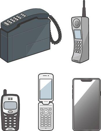 Divers téléphones portables