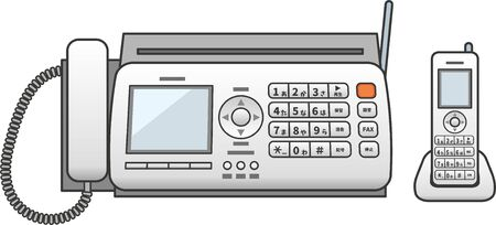 Image illustration of a fax phone