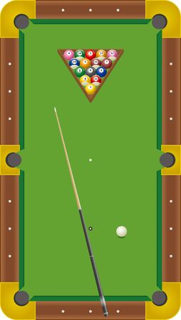 Billiards. Eight Ball Image Illustration  イラスト・ベクター素材