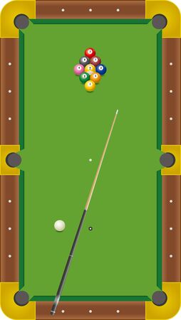 Billiards. Image illustration of Nine Ball