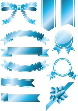 Ribbon light blue set