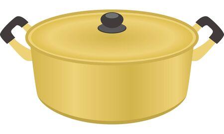 Image illustration of pearl metal pot