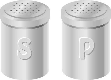 Immagine illustrazione di sale e pepe Vettoriali