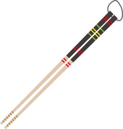 Image illustration of chopsticks
