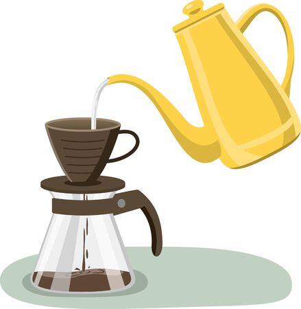 Image illustration of coffee drip