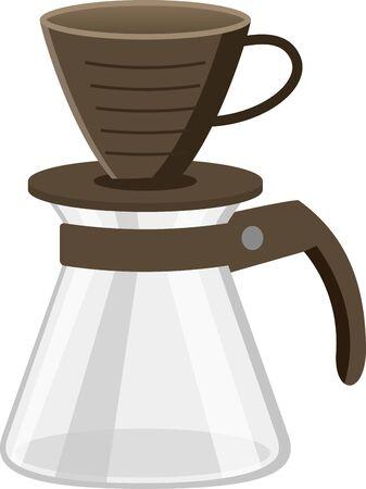 Image illustration of coffee dripper set
