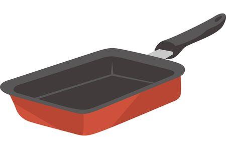Image illustration of fried egg frying pan Ilustracja
